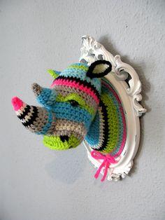 Crochet Animal Heads by... ManafkaMina. Craft Taxidermy