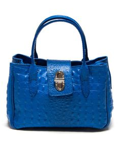 Look at this Bluet Textured Leather Shoulder Bag on #zulily today!