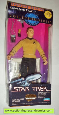 Star Trek CAPTAIN JAMES T KIRK command 9 inch playmates toys action figures moc mip mib