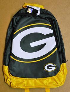 Green Bay Packers BackPack / Back Pack Book Bag NEW NFL - TEAM COLORS BIG LOGO