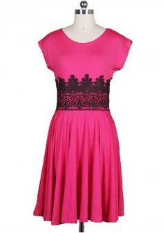 Winter New American Star With Sleeveless Hit Color Slim Waist Lace Pencil Dress