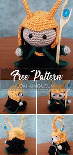 Loki amigurumi – Pattern Free – Easy Crochet Loki amigurumi – Pattern Free – Easy CrochetYou can find Crochet. Crochet Kawaii, Crochet Cow, Crochet Geek, Crochet Unicorn, Crochet Dolls, Free Crochet, Free Knitting, Loki, Disney Crochet Patterns