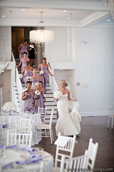 That would be fun -- for the bride and her besties to go check out the reception decor together before the ceremony!