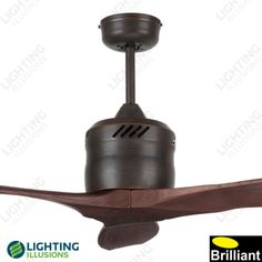 """Bronze Galaxy Contemporary 54"""" DC Ceiling Fan 3 Blade With Remote - Shop - Lighting Illusions Online"""