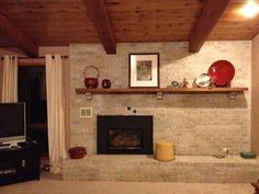 Off-Center Fireplace w/ Mantel