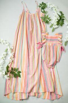 Happy by Pink Chicken Cotton Gauze Dress Pink