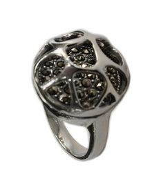 925 Sterling Silver Marcasite Ring