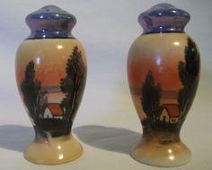 Vintage Japanese Lusterware Salt Pepper Shaker Set Hand by izzyboo, $7.50