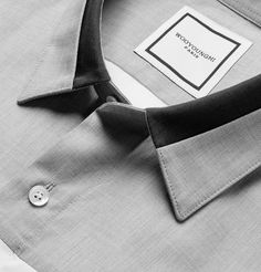South Korean brand Wooyoungmi is known for its fine attention to detail and… Formal Shirts, Casual Shirts For Men, Men Casual, Collar Designs, Shirt Designs, Mens Designer Shirts, Camisa Formal, Kurta Designs, Men Style Tips