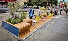 Mini parks sprouting up in parking spaces in San Francisco!