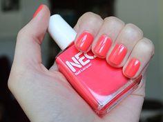 Neon Red by #AmericanApparel Nail Polish.  #nail #beauty #neon