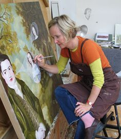 Anne Siems in her studio
