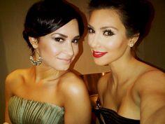 Demi Lovato & Kim Kardashian.