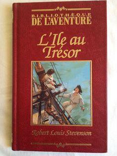 #jeunesse #enfance : L'île au trésor de Stevenson édition fac-simile Fabbri. Collection Bibliothèque de l'aventure. 192 pp. reliées.