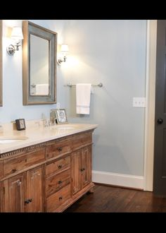 Ranch Remodel Master Bathroom Vanity - eclectic - bathroom - atlanta - by Clark & Zook Architects, LLC Eclectic Bathroom, Bathroom Interior Design, Master Bathroom Vanity, Small Bathroom, Houzz Bathroom, Master Bedroom, Blue Bathrooms, 1950s Bathroom, Master Bathrooms