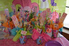 The Blue Crew: Sneak Peek Sunday...My Little Pony party favors, goodie bags, candy bouquets
