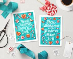 Christmas Card Template, Printable Christmas Cards, Merry Christmas Card, Printable Cards, Watercolor Christmas Cards, Watercolor Cards, Postcard Template, Card Templates, Happy New Year Cards