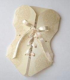 25 - Lingerie Corset Bridal Shower or Bachelorette Party Invitations - Creme, Ivory, Pink, Purple, Red