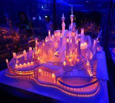 Glowing paper castle