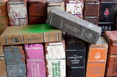 Old bricks/pavers turned outdoor book art. (Done by an Australian company...possible to re-create DIY style?)