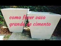 Como fazer vaso de cimento Grande 100 litros - YouTube Pots, Cement Art, Concrete, Projects To Try, Make It Yourself, Diy, Youtube, Biscuit, Crafts