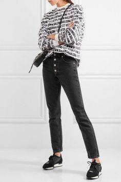 Balenciaga - Race Runner Leather, Mesh And Neoprene Sneakers - Black - IT