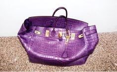 Haut-A-Courroie 50 - Purple Croc own by Pharell Williams, Special Order