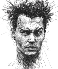 Amazing Celebrity Portraits Out of Spontaneous Pen Scribbles