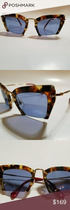 44b80c763d52 Spotted while shopping on Poshmark  Miu Miu Sunglasses Cat Eye Tortoise Fr.