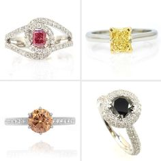 Colored Diamonds Engagement Rings