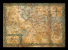 HOBBIT - shire map posters | photos | images | prints