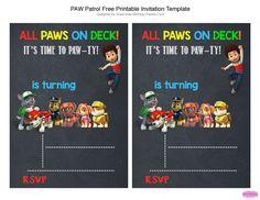 Paw Patrol Party on a Budget - Free Invitation | LagunaLane.com