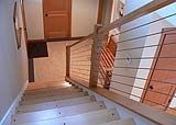 Stainless steel and wood banister railing from stainless cable solutions