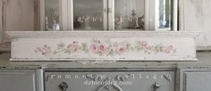 My Romantic Antique Roses Header. Hand painted by me and is just beautiful! Available at www.debicoules.com