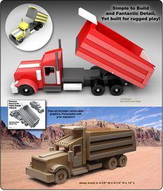 Famous Kenworth Dump Truck Wood Toy Plan Set