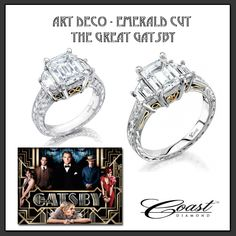We can't wait to see The Great Gatsby! We're especially excited to see the deco-inspired costumes and jewelry. Our emerald cut engagement rings combine 1920's glamour with modern, romantic elements.