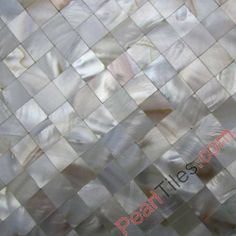 Seamless Shell Mosaic Tiles Natural White Mother Of Pearl Tiles