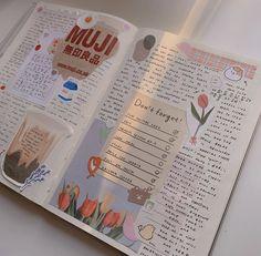 💌 💌,journal Related ideas para incluir en tu diario artístico (Art Journal) - art journal inspirationStudy spot ❤ discovered by on We Heart It - art journal inspirationTHINGS YOU CAN. Bullet Journal Notes, Bullet Journal Aesthetic, Bullet Journal Writing, My Journal, Art Journal Pages, Bujo, Scrapbook Journal, Cute Journals, Bullet Journal Inspiration