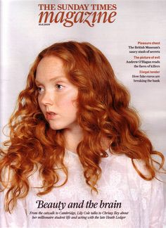 Lily Cole - her hair is so perfectly Maura's hair here! *dies*>>>>> lily cole is perfect for mabel :D (there you go jess ; Lily Cole, Asian Hair Growth, Red Hair Model, Alabaster Skin, Ginger Girls, Natural Hair Styles, Long Hair Styles, New Hair Colors, Dream Hair