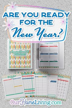 It's never too early to start thinking about your New Years resolution goals. Are you having a tough time keeping your home organization under control? Have you thought about organizing all your documents into a household binder? Meeting your New Years go Household Binder, Household Organization, Paper Organization, Printable Organization, Organizing Ideas, Household Tips, Printable Planner, Planner Stickers, Printables