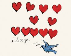 I Love You So, c.1958 Art Print by Andy Warhol at King & McGaw