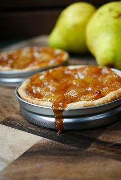Mini Pear Tarts – In Mason Jar Lids