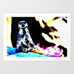 Abstract Meerkat Art Print by Lon Casler Bixby - $16.00  – Fine Art Prints, greeting cards, t-shirts, cell phone cases, & more.