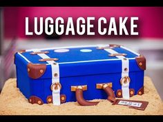 How To Make A LUGGAGE CAKE! Kick Off The New Year With Chocolate Cake & Three Types Of BUTTERCREAM! - YouTube