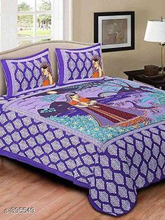 Checkout this latest Bedsheets_500-1000 Product Name: *Fancy Cotton Double Bedsheet* Fabric: Bedsheet - Cotton Pillow Covers - Cotton Dimension: ( L X W ) - Bedsheet - 78 in x 86 in Pillow Cover - 18 in x 26 in Description: It Has 1 Piece Of Double Bedsheet With 2 Piece Of Pillow Covers Work: Printed Thread Count: 140 Country of Origin: India Easy Returns Available In Case Of Any Issue   Catalog Rating: ★3.9 (1614)  Catalog Name: Jaipuri Decorative Printed Double Bedsheets Vol 6 CatalogID_42592 C53-SC1101 Code: 263-395549-978