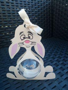 Boite à dragées coco lapin boule plexi ( baptême, naissance, anniversaire)