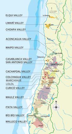 Chile's wine regions