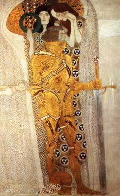 Knight (detail) by Gustav Klimt from the Beethoven Frieze, 1902 | The Beethoven Exhibition, Vienna Secession
