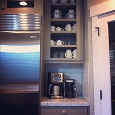 Coffee bar in kitchen of our new house!,   via Flickr.andrea duffy