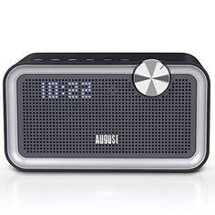 August SE55 - Radio FM, Altavoz Bluetooth con EQ y Aux In - Radio Despertador y Altavoces Bluetooth - http://vivahogar.net/oferta/august-se55-radio-fm-altavoz-bluetooth-con-eq-y-aux-in-radio-despertador-y-altavoces-bluetooth/ -